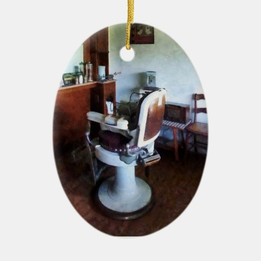 Old Fashioned Barber Chair Ceramic Ornament Zazzle