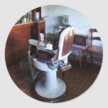 Old-Fashioned Barber Chair Classic Round Sticker