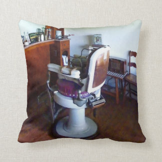 Old-Fashioned Barber Chair Throw Pillow