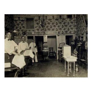 Old-Fashioned Barbershop 1912 Vintage Postcard