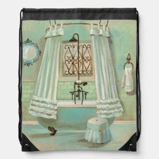 Old Fashioned Bathroom Drawstring Backpack