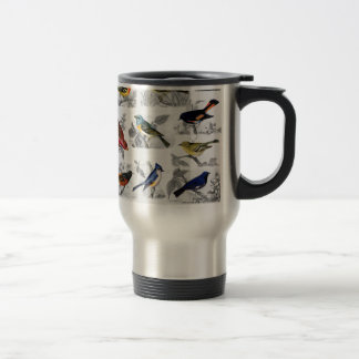 Old Fashioned Birds Travel Mug