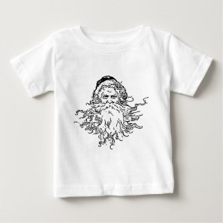 Old-Fashioned Black and White Santa Infant T-shirt
