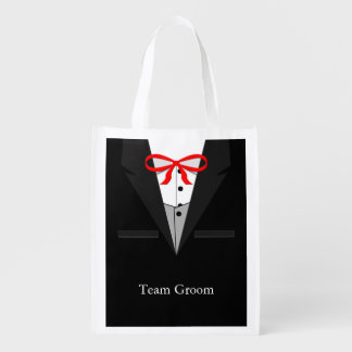 Old Fashioned Black Tuxedo Grocery Bag