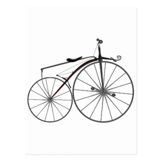 "Old-Fashioned ""Boneshaker"" Bicycle Postcard"