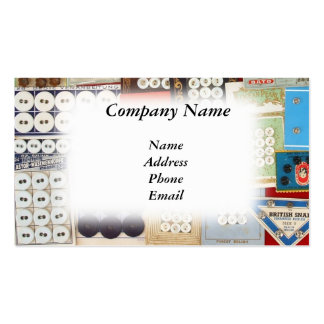 Old Fashioned Button Collection Double-Sided Standard Business Cards (Pack Of 100)