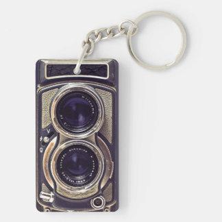 Old-fashioned camera keychain