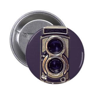 Old-fashioned camera pinback button