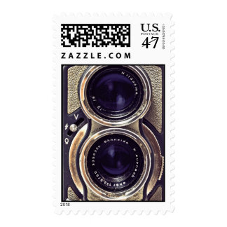 Old-fashioned camera postage