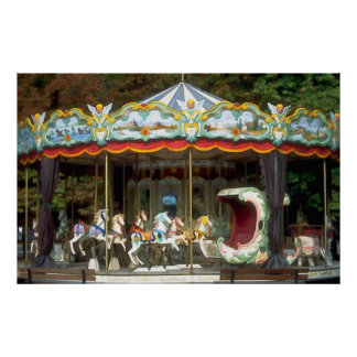 Old Fashioned Carousel in the Park Posters