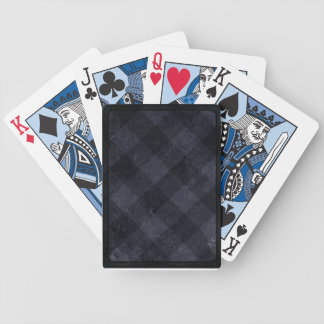 Old fashioned checkered pattern bicycle playing cards
