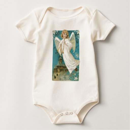 Old Fashioned Christmas Angel Rompers