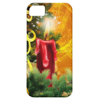 Old Fashioned Christmas Candle Flame Decoration iPhone 5 Cases