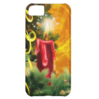 Old Fashioned Christmas Candle Flame Decoration iPhone 5C Covers