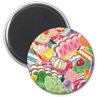 Old Fashioned Christmas Candy 2 Inch Round Magnet