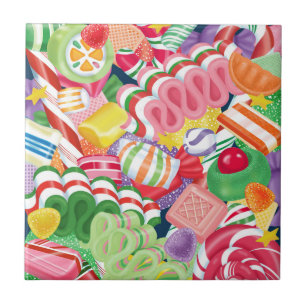 old fashioned christmas candy ceramic tile