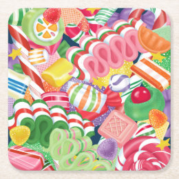 Old Fashioned Christmas Candy Coaster