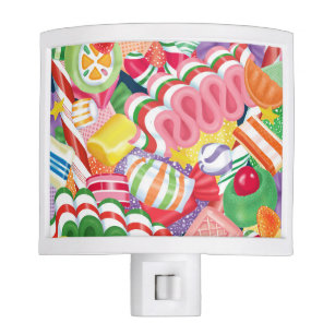 old fashioned christmas candy night light