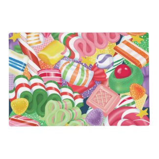 Old Fashioned Christmas Candy Placemat