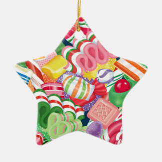 Old Fashioned Christmas Candy Star Ornament