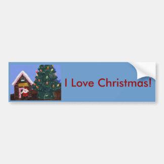 Old Fashioned Christmas Car Bumper Sticker