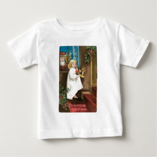 Old Fashioned Christmas Greetings Baby T-Shirt