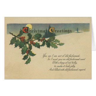 Old Fashioned Christmas Greetings Card
