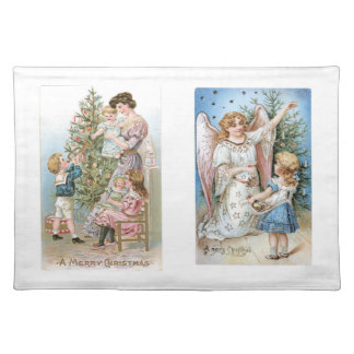 Old Fashioned Christmas Holiday Joy Kids Placemat