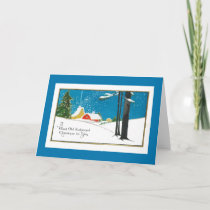 Old-Fashioned Christmas on the Farm Holiday Card
