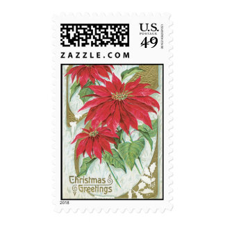 Old Fashioned Christmas Poinsettia Stamp