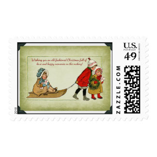 Old Fashioned Christmas postage