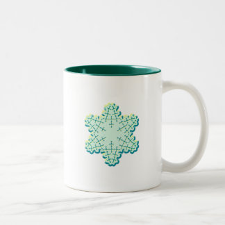 Old Fashioned Christmas Snowflake Ice Crystal Coffee Mug