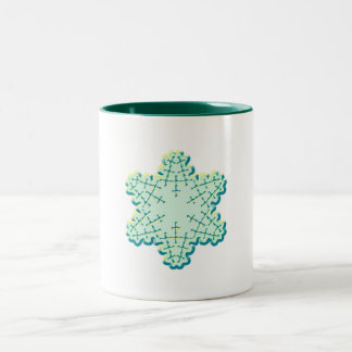 Old Fashioned Christmas Snowflake Ice Crystal Mug
