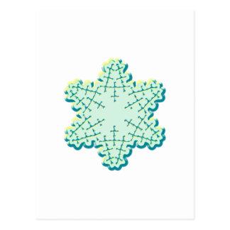 Old Fashioned Christmas Snowflake Ice Crystal Postcard