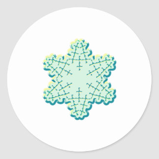 Old Fashioned Christmas Snowflake Ice Crystal Classic Round Sticker