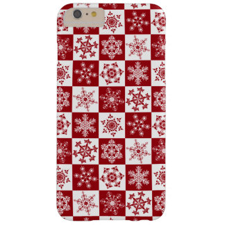Old Fashioned Christmas Traditional Snowflake Barely There iPhone 6 Plus Case