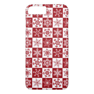 Old Fashioned Christmas Traditional Snowflake iPhone 8 Plus/7 Plus Case