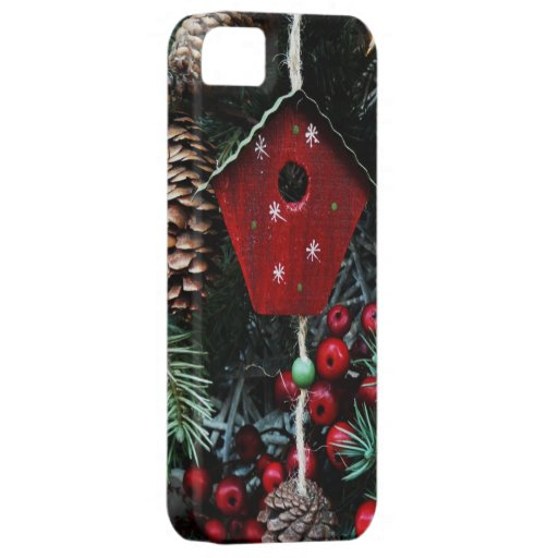 Old Fashioned Christmas Tree Decorations Birdhouse iPhone SE/5/5s Case
