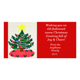 Old-fashioned Christmas Tree Holiday Photo Card