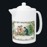 "Old Fashioned Christmas Vintage Holiday Joy Teapot<br><div class=""desc"">Darling Old Fashioned Christmas Cards with scenes of nature are on this Christmas Teapot.  Great for Hot Chocolate or a favorite Tea or Coffee around a fireplace during a snowy day.</div>"