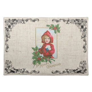 Old Fashioned Christmas Vintage Holidays Cloth Placemat