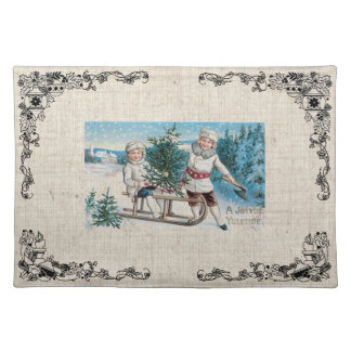 Old Fashioned Christmas Vintage Holidays Placemat