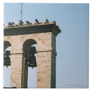 Old-fashioned church bells, Assisi, Italy Ceramic Tile