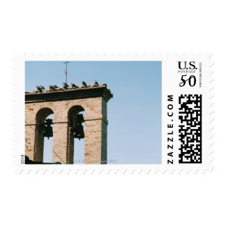 Old-fashioned church bells, Assisi, Italy Postage
