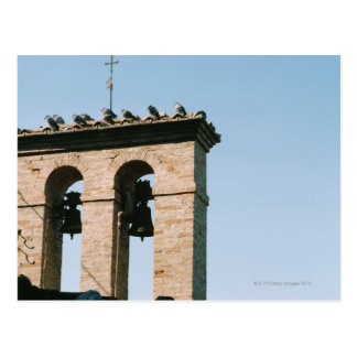 Old-fashioned church bells, Assisi, Italy Postcard