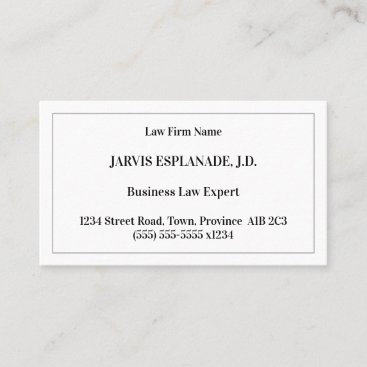 Old Fashioned, Classic Style Business Card