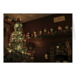 Old-Fashioned Colonial Christmas Holiday Greeting Greeting Card