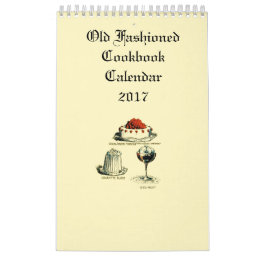 Old Fashioned Cookbook Calendar