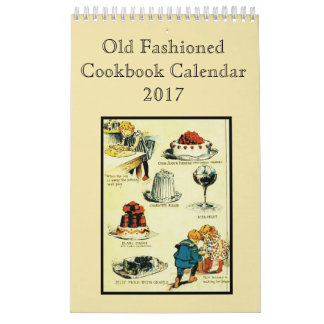 Old Fashioned Cookbook Calendar