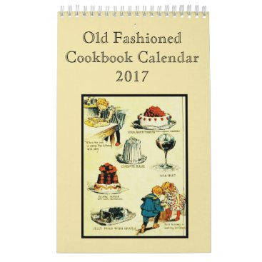 Halloween Themed Old Fashioned Cookbook Calendar